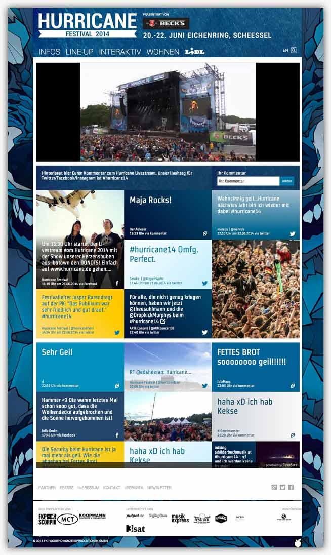 social wall hurricane festival
