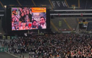 Social Wall in der Commerzbank-Arena