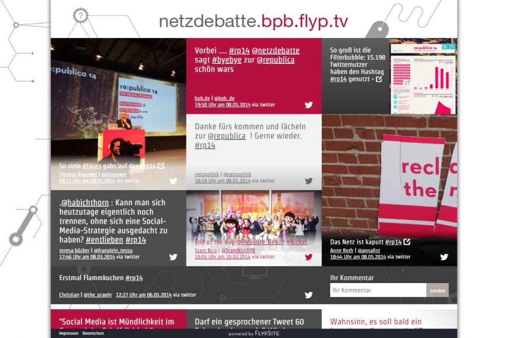 Twitter-Wall Netzdebatte