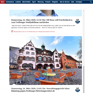 Badische Zeitung: Corona-Liveblog Freiburg