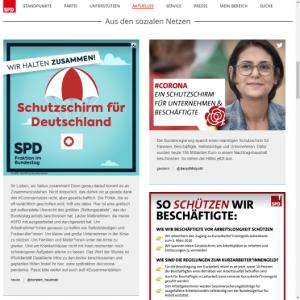 SPD: Sonderseite zu Corona